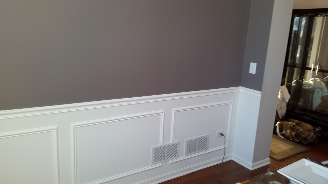 After Installing Chair Rail And Frames